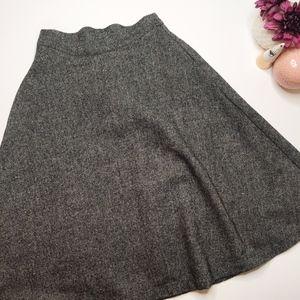 ModCloth Tweed Circle Retro Wool Skirt
